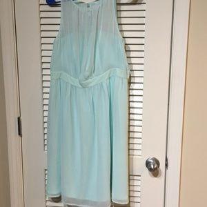 Chiffon dress with pockets